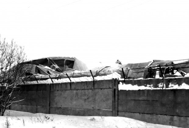Обрушение крыши ангара на ул.Северная